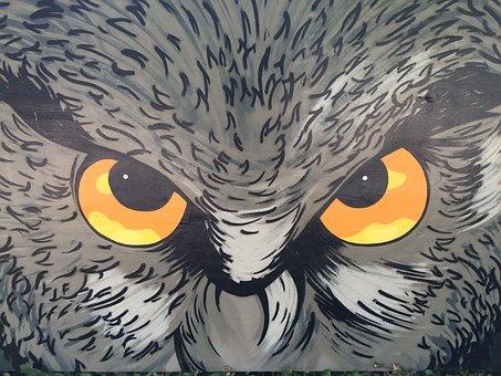 Eagle Owl, Art, Owl, Bird, Drawing, Plumage, Weird Bird