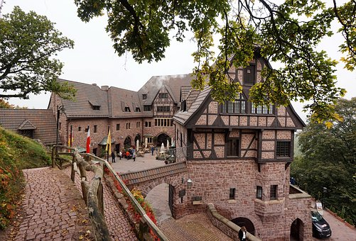 Germany, Eisenach, The Fortress Of Wartburg