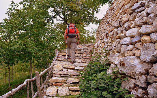 Climb, Scale, Stone, Wall, Sassi, Excursion, Trekking