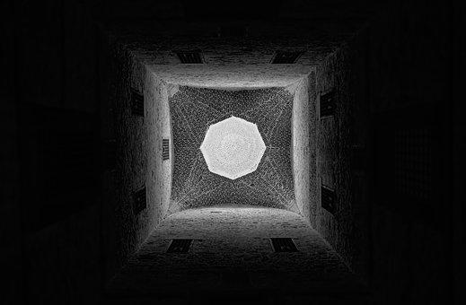 Abstract, Fine Art, Black And White, Islamic Art
