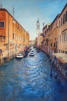 Venice, Channel, Travel, J Architecture, Water Channel