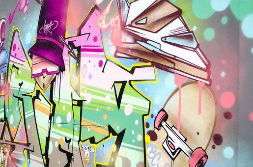 Graffiti, Wall, Lake Dusia, Spray, Street Art, Mural