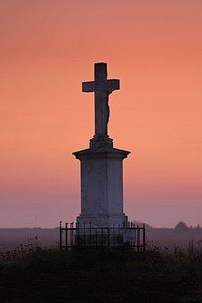 Cross, Prayer, Repentance, Christianity, Field, Lonely