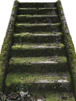 Gradually, Stone Stairway, Lost Places, Roof, Stairs
