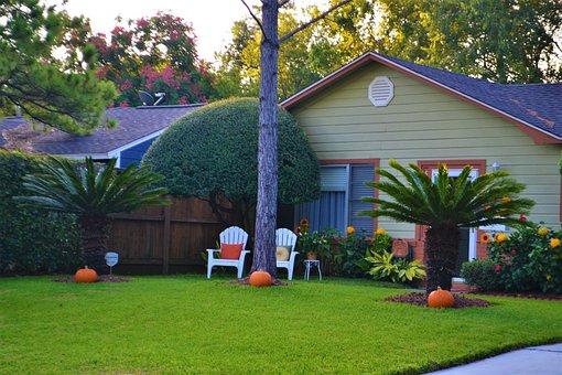 Family House, Pumpkins, Halloween, Single Family Home