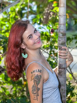 Beautiful Smile, Red Hair Model, Photo Shoot