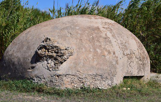 Bunker, War, Military, World War, Coast, Reed, Hide