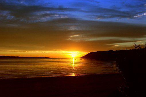 Sunset, Sea, Sunset Sea, Abendstimmung, Sun, Evening
