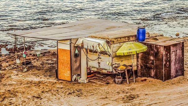 Hut, Fisherman's Hut, Shack, Decay