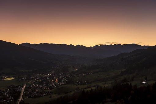 Allgäu, Evening Sun, Evening, Sunset, Mood, Sky