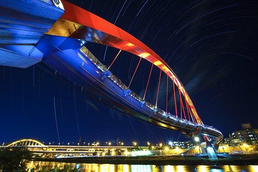 Raohe, Rainbow Bridge, The Dark Night, Star Track, Sky