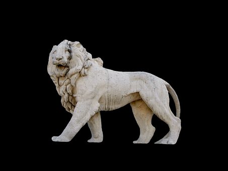 Stone Lion, Lion, Stone Figure, Sculpture, Figure