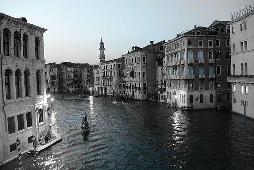 Venice, Rialto Bridge, Canale Grande, Gondola