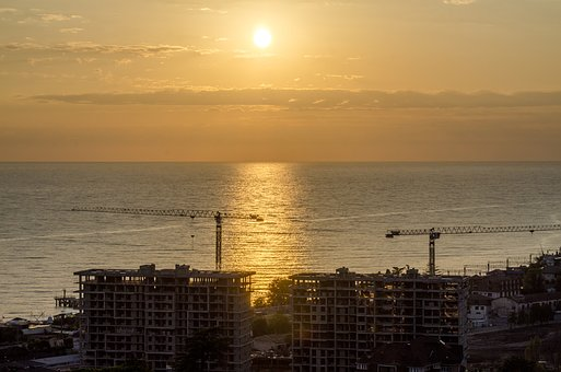 Construction, Nature, Sunset, Calm, Sky, Orange Sky
