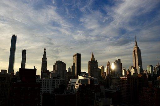 Skyline, New York City, New York, City, Cityscape, Dusk
