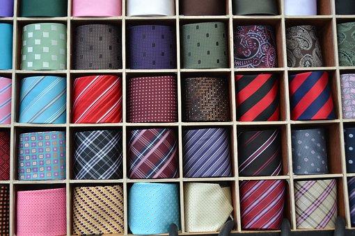 Silk Tie, Sales Man, Collection Of Ties, Array