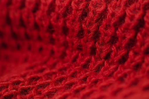 Red, Fabric, Pattern, Vivid Color, Weaving, Copy Space