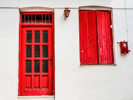 Greece, Skopelos, Chora, Village, House, Door, Window