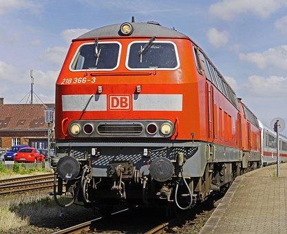 Diesel Locomotive, Double Traction, Br 218