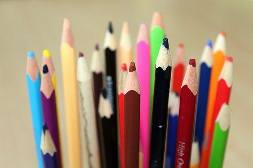 Crayons, Colorful, Motor Skills, Children, Drawing