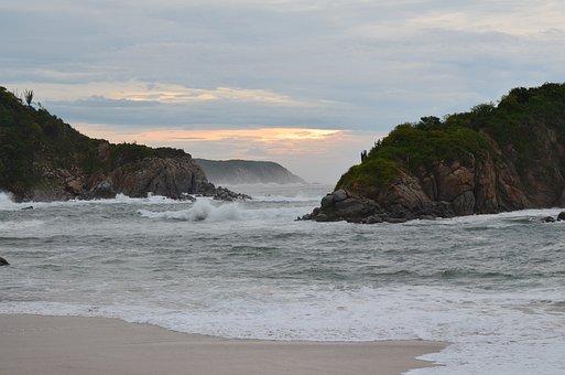 Mexico, Huatulco, Oaxaca, Sea, Bea, Beach, Landscape