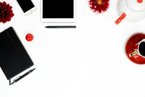 Workplace, White Table, Modern, Lifestyle, Ipad, Iphone