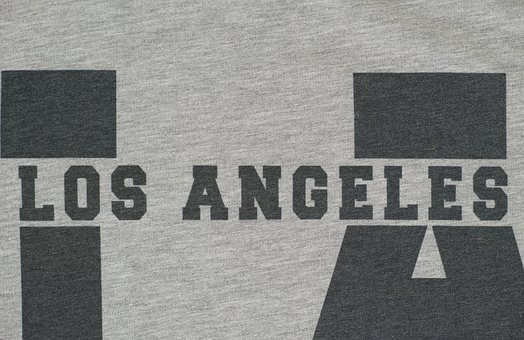 Los Angeles, Printing, Pattern, Graphics, Fabric
