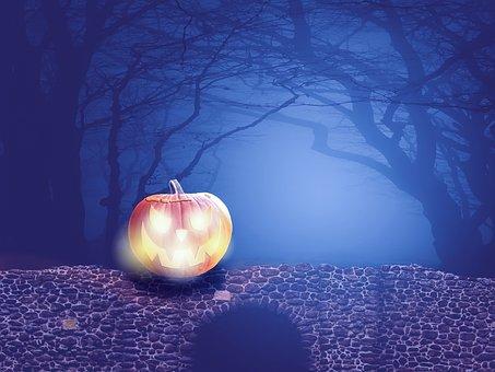 Halloweenkuerbis, Pumpkin, Halloween, Autumn, Orange