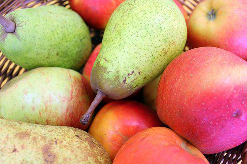 Fruit, Apples, Pears, Collections, Sad, Healthy Food