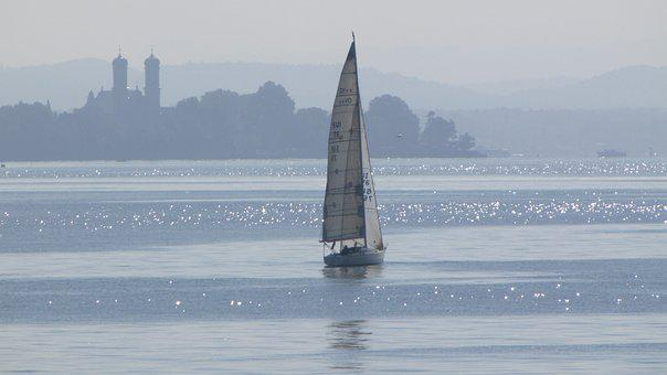 Lake, Sailing Boat, Boot, Sail, Summer, Sailing Mast
