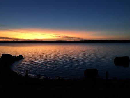 Sea, Himmel, Solar, Twilight, Calm, Fishing, Evening