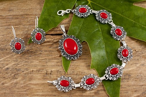 Jewelry, Coral, Woman, Gemstones, Neck, Set, You Try To