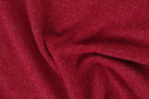 Red, Fabric, Textile, Macro, Detail, Cotton, Design