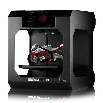 Printer, 3d, White, The Background, Graften, They