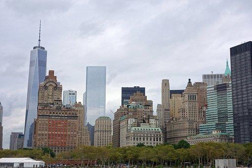 New York, Skyline, Ferry, Staten Iceland, View