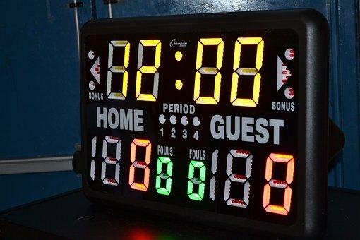 Shot Clock, Basketball, Home Game, Visitor, Timer