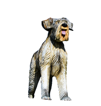 Wood Dog, Figure, Dog, Schnauzer, Sculpture, Art