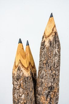 Big, Line, Pencil, Study, Vertical, Wood, Wooden
