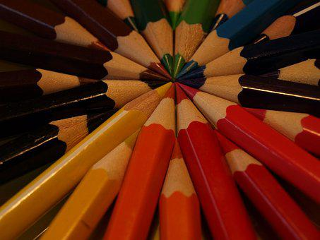 Colors, Crayons, Colorful, Draw, Rainbow, Wooden