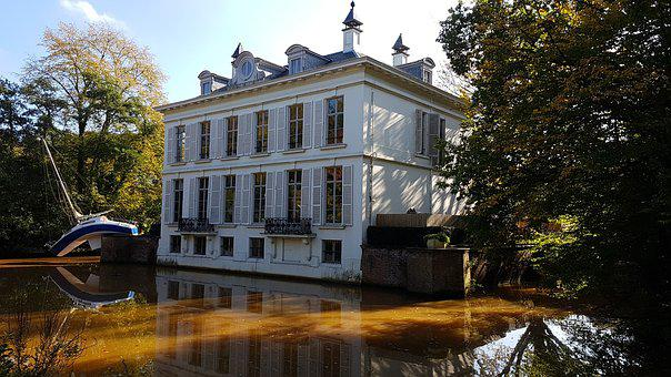 Castle, Middelheim, Water, Belgium, Antwerp, Houses