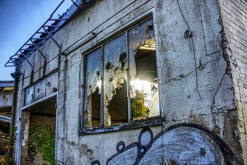 Sunbeam, Back Light, Window, Broken, Lost Place