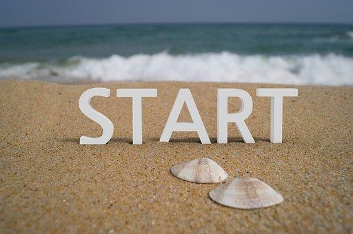 Start, Begin, Business, Wave, Sand, Sea, Cloud, Water