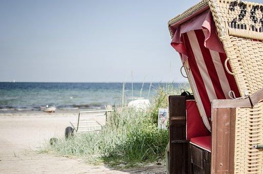 Beach Chair, Sea, Beach, Sand, Coast, Clubs, North Sea