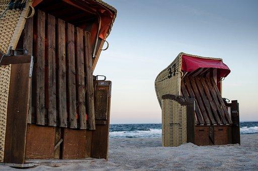 Beach Chair, Lake, Clubs, Coast, Baltic Sea, Holiday