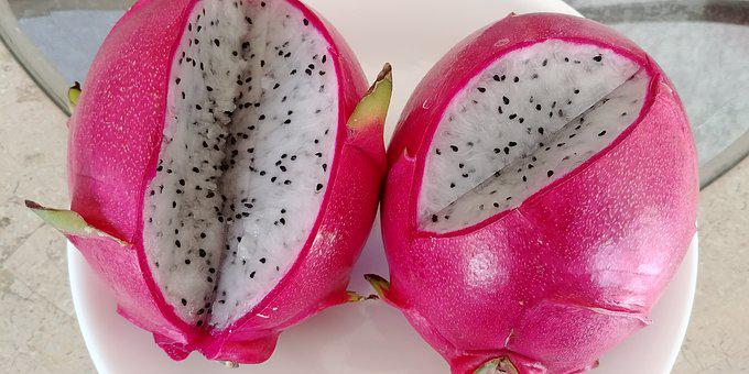 Dragonfruit, Juicy, Red, Tropical, Exotic, Ripe