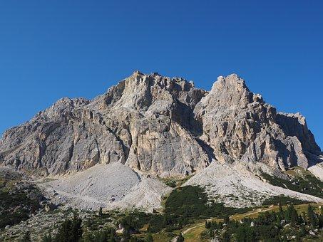 Lagazuoi, Mountain, Fanesgruppe, Dolomites