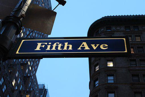 Fifth Avenue, Sign, Avenue, Fifth, Manhattan, New, Nyc