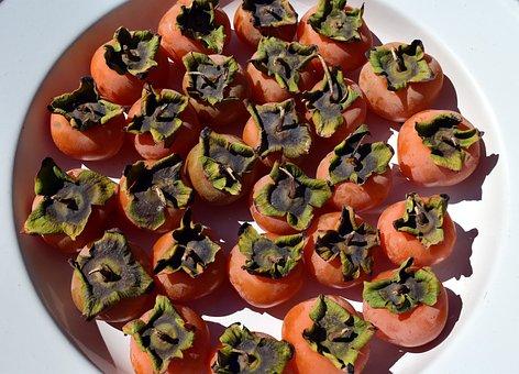 Kaki, Fruit, Vitamins, Fruits, Healthy, Food, Yellow