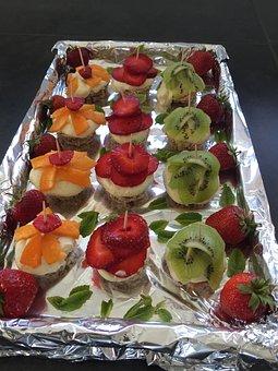 Tapas, Nøddekager, Fruits, Beautiful, Dessert, Delights