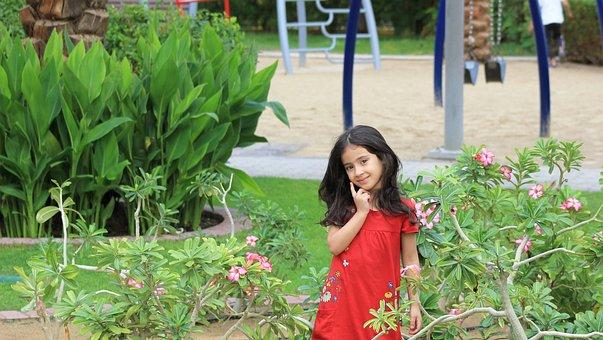 Park, Girl, Green, Kid, Little, Cute, Happy
